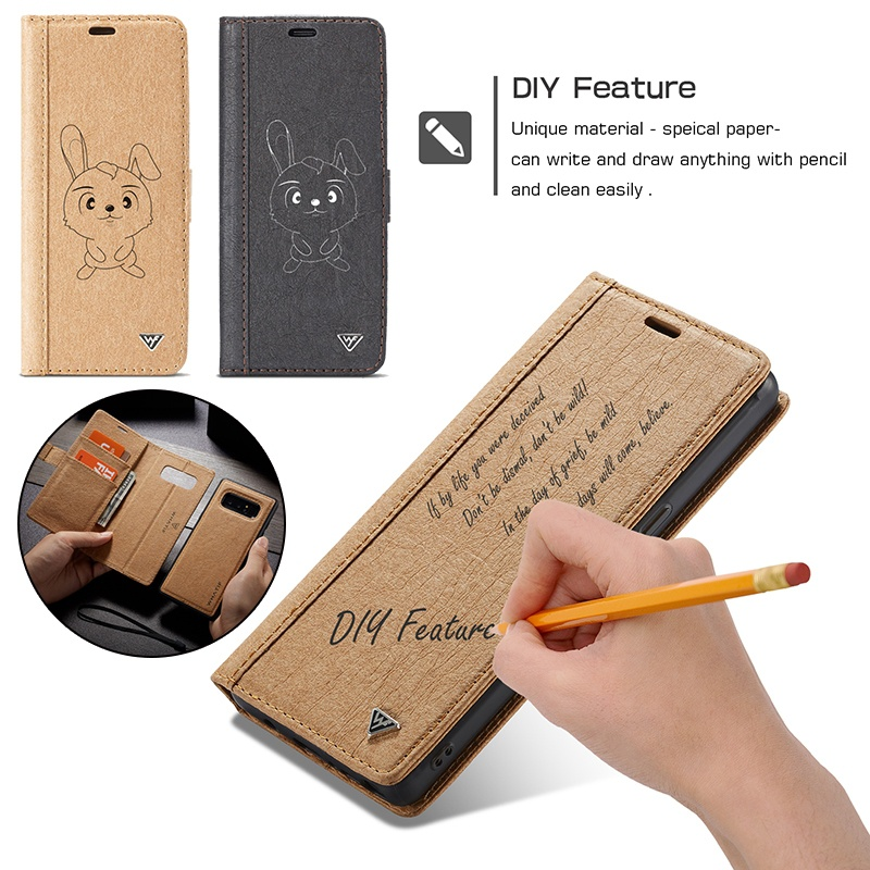 Brand DIY Leather Case for Samsung Galaxy Note 8 S7 Edge S8 S9 Plus 2 in 1 Detachable Flip Cover for iPhone X 6 6s 7 8 Plus Case image