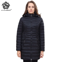 Hydiber 2017 New Arrival Navy Blue Long Slimming Women Hooded Parka For Ladies Outwear Coats Autumn