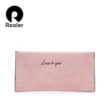 Realer women wallets and purses women bag Gray/Pink/Black fashion