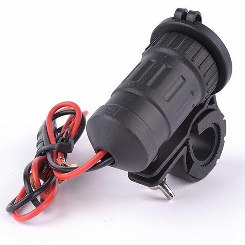 2017 New 12V / 24V Motorcycle Resistant Handlebar Mounted Cigarette Lighter Socket Dual USB Charger Holder Waterproof Cover Fuse