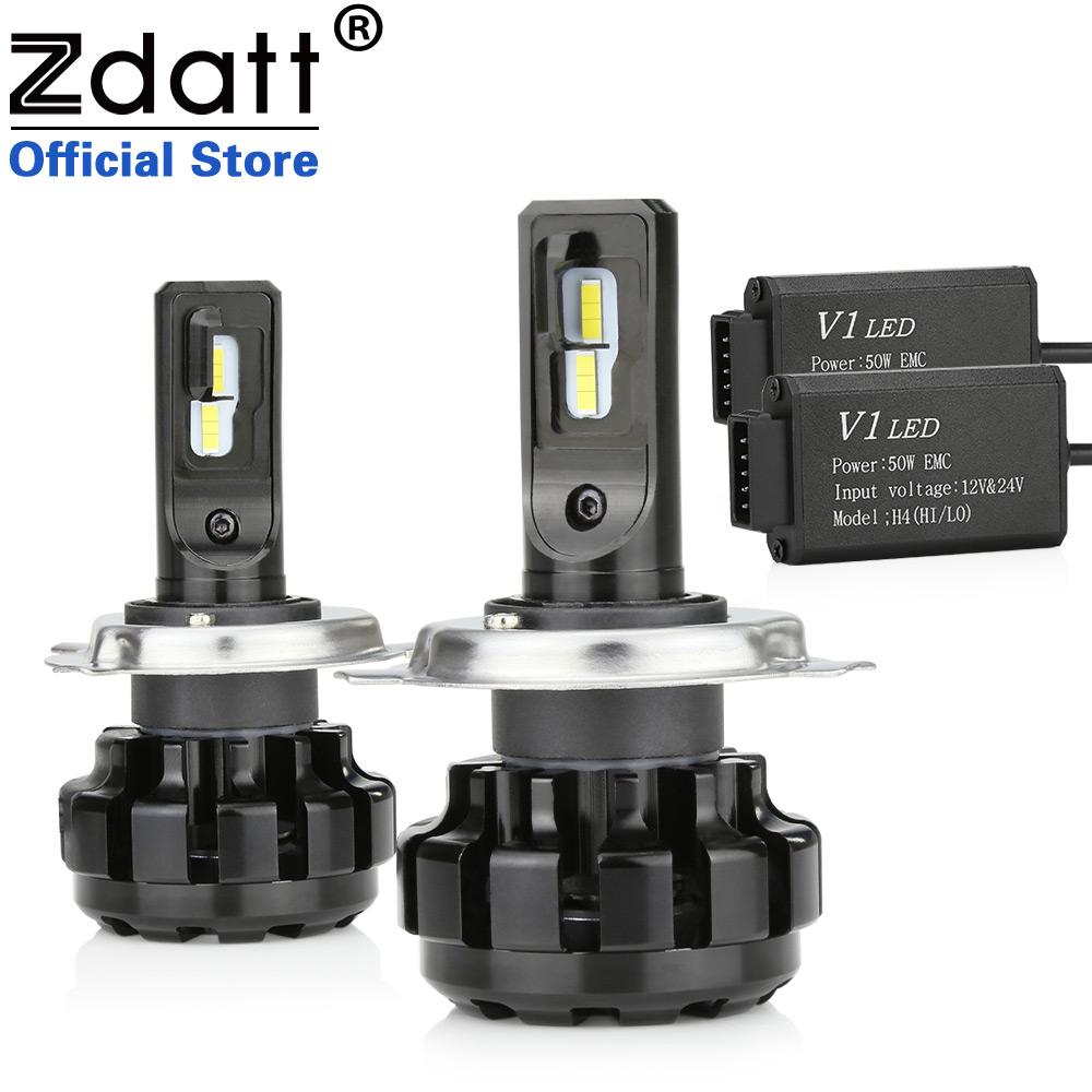 Zdatt H4 LED HB2 9003 ZES CREE LED Headlights Runing lights Bulb Canbus Lamp 12000LM 6000K 100W 12V Auto Headlamp Led Automotive