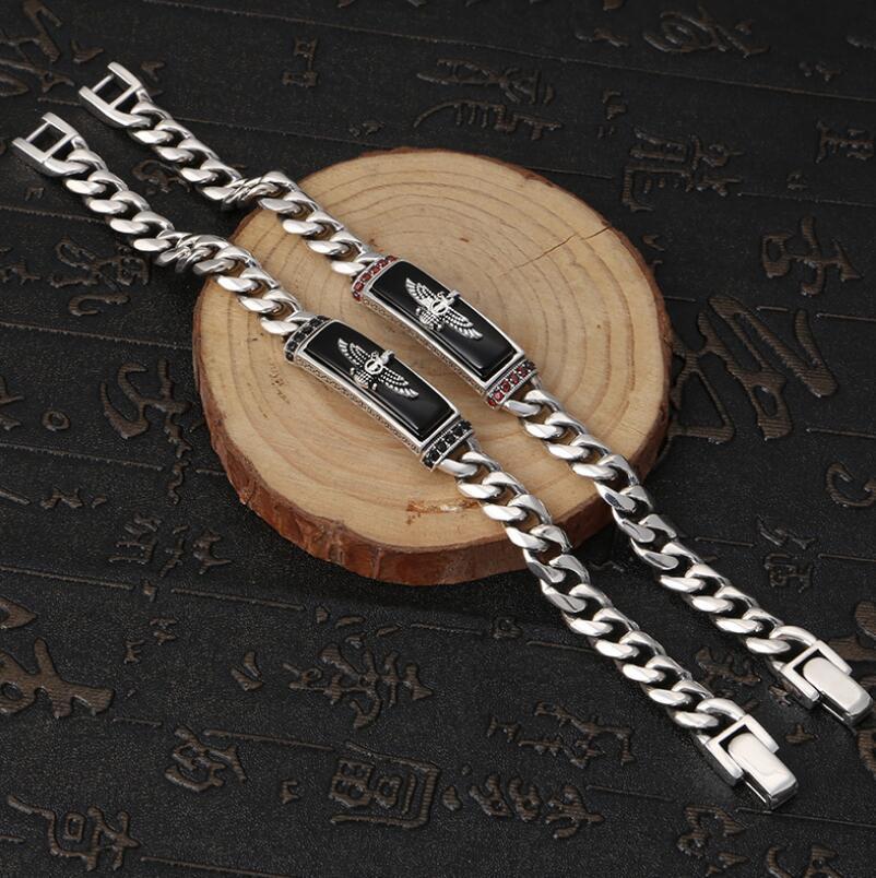 Bracelet aigle classique en argent pur 925 Bracelet aigle volant rétro en argent S925 - 2
