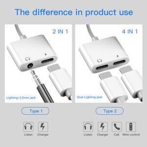 Image 3 - ! ACCEZZ Für iPhone Adapter 2 in 1 Für Apple iPhone XS MAX XR X 7 8 Plus IOS 12 3,5mm Jack Kopfhörer Adapter Aux Kabel Splitter