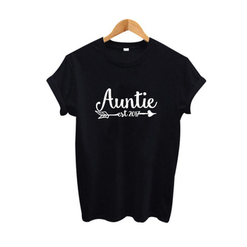 Auntie Est 2017 Harajuku T shirt Women Clothes Summer Funny Graphic Tee Shirt Femme Black White Tops Big Size Tumblr Clothing