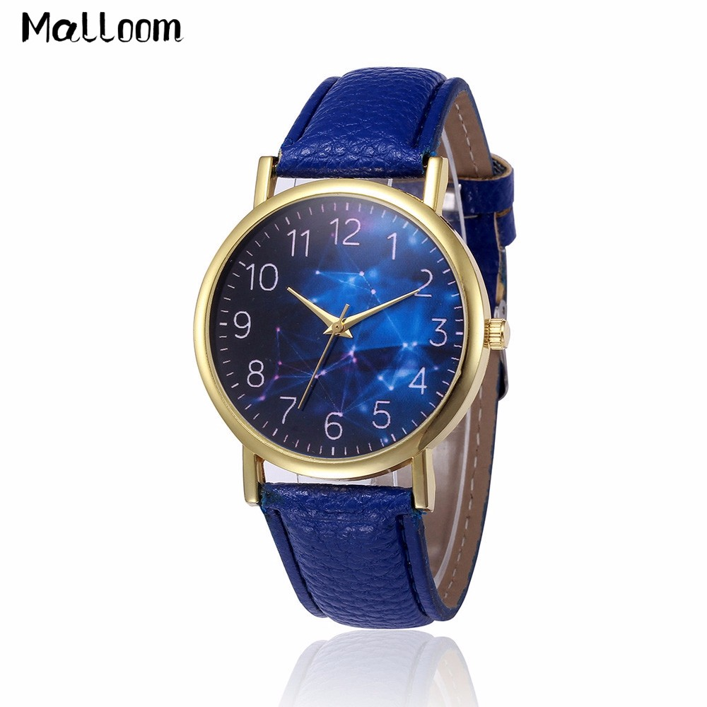Malloom Retro Design Women Watch Relojes Mujer Lady Leather Strap Analog Quartz Wrist Watches Mens Blue Dial Clock Relogio #Ju fabulous 1pc new women watches retro design leather band simple design hot style analog alloy quartz wrist watch women relogio