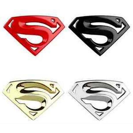 Cool Metal Superman Logo Car Sticker Superhero Emblem Badge On
