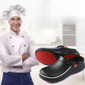 Image 2 - EVA zapatos de trabajo de cocina antideslizantes, impermeables, a prueba de aceite, para Chef, Master Cook, Hotel, restaurante, zapatillas Sandalias planas