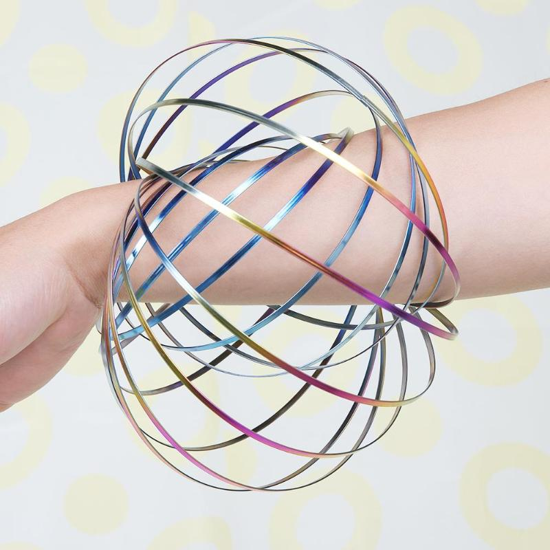 Magic Flow Ring Toy Flowtoy Amazing Kinetic Spring Toy Funny Game Intelligent Toy Kids Antistress Spinner Roller Children Gift 2018 magic ring toroflux torofluxus flowtoy amazing flow rings toys kinetic spring toy funny outdoor game intelligent toy fidget