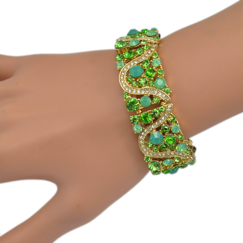 3 Warna Opsional Kristal Berlian Imitasi Gadis Peregangan Elastis - Perhiasan fashion - Foto 6