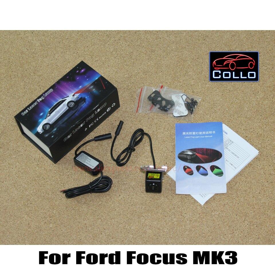 Car Laser Fog Lights For Ford Focus MK3 2010~2015 / License plate lights installed Tail Warning Lamp Vehicle Collision