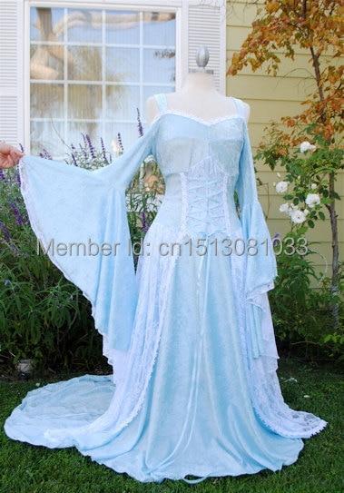 Lady Gwen Medieval Fantasy Corset Long Gown