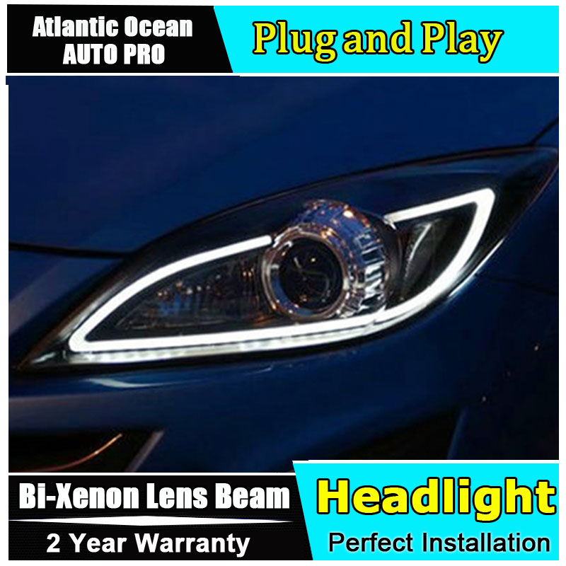 Auto.Pro Car Styling for Mazda 3 LED Headlight Mazda3 Sport Headlights DRL Lens Double Beam HID KIT Xenon bi xenon lens car styling for mazda 3 headlights 2014 2016 mazda3 led headlight axela led drl turn signal drl h7 hid bi xenon lens low beam