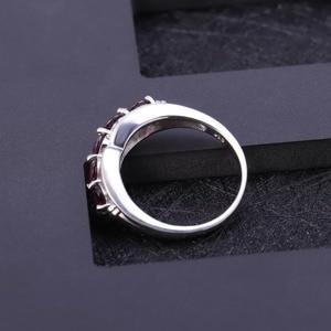 Image 3 - GEMS BALLET Solid 1.84Ct Natural Rhodolite Garnet Ring 925 Sterling Sliver Wedding Band Simple Rings For Women Fine Jewelry
