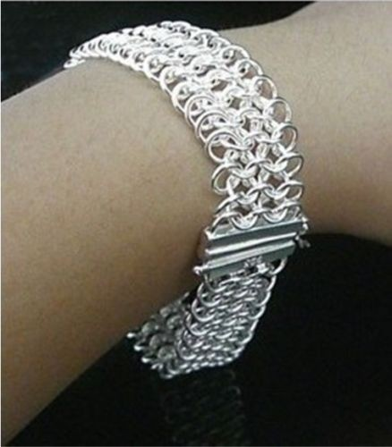 Popular Charm Bracelets 2: Brand Fashion Jewelry 925 Stamped Silver Plated Bracelet