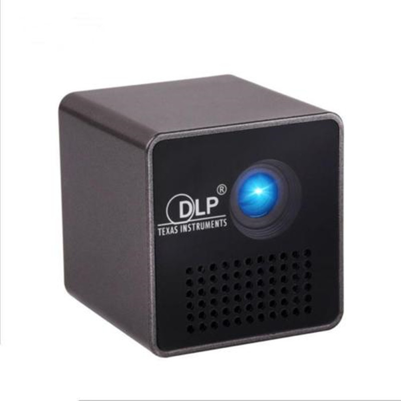 MINI DLP Projector Portable WIFI 1080P HD Beamer Throw 70 inch 64G TF Slot 3 5mm