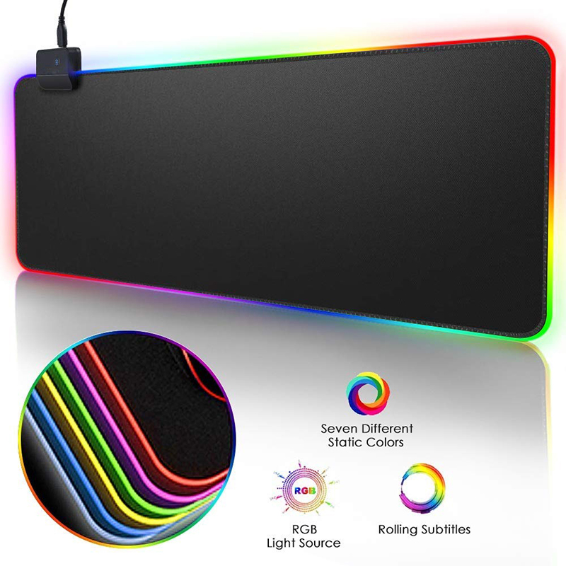 RGB Gaming Mouse Pad Large Mouse Pad Gamer Led Computer Mousepad Big Mouse Mat with Backlight Carpet For keyboard Desk Mat Mause