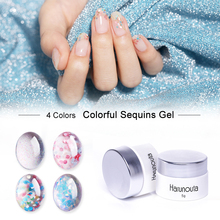Harunouta 5g Floral Nail Gel Sequins Colorful Mixed Pailletten  Polish Soak Off Art UV Varnish for Manicure