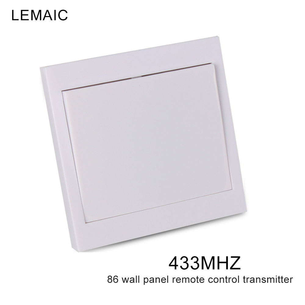 433 Mhz 86 Wall Panel Remote Transmitter Sticky RF TX Smart Home Hall Living Room Bedroom 433mhz Wireless Remote Control Switch