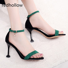 Women Sandals High Heels Shoes Sexy Ladies Party Sandals Dress Shoes For Women Fashion Thin Heels Summer Sandals Ankle Strap women sandals platform size fashion hoof high heels sexy party for ladies shoes ankle buckle strap rivets decoration sandals