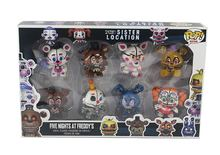 8PCS/Set FNAF Freddy Mini Figure Nendoroid PVC Five Nights At Freddys Foxy Chica Anime Figurines Loose Toys for gift