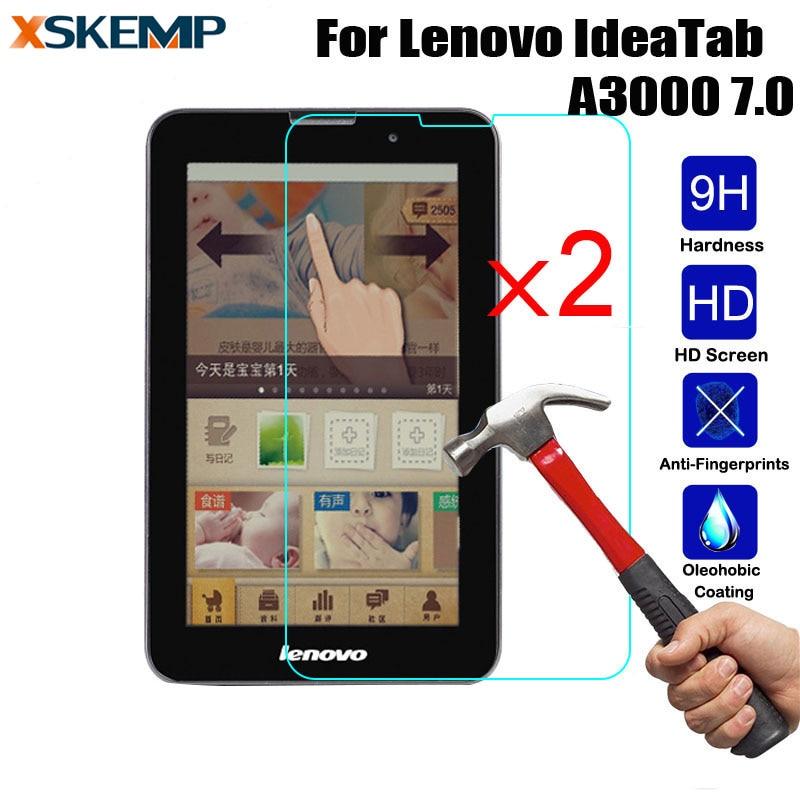 Xskemp 2 шт./лот 9 H Премиум Настоящее Закаленное стекло для Lenovo IdeaTab A3000 7.0 анти-shatter Tablet протектор защитная пленка