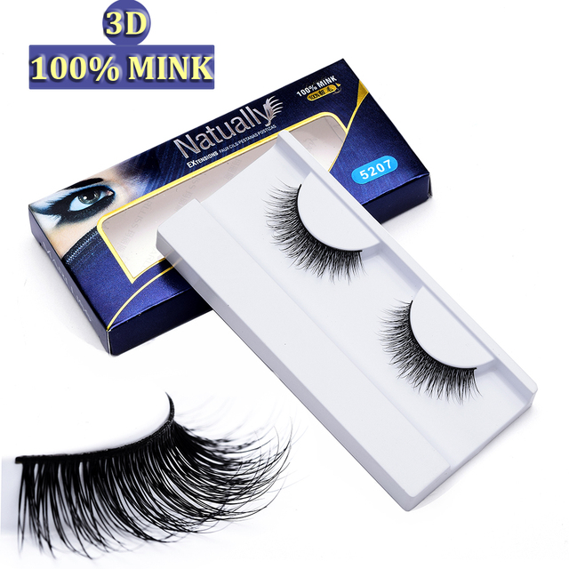 cc589874812 Natural long 3D Mink Fur lashes Thick Soft 100% Siberian Mink Fur Hand-made