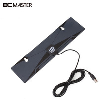 BCMaster 1080P High Gain HD Digital Indoor TV Receiver Aerial Flat Design Ultra Thin HDTV Satellite TV receiver