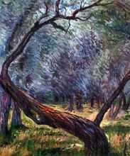 Olive Trees by Claude Monet Handpainted