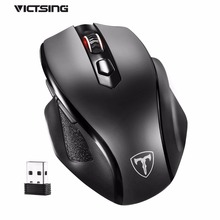 VicTsing Upgraded DPI Adjustable Wireless Mouse Full Size Ergonomic Design Mouse Super Long Standby Time For Notebook/PC/Laptop
