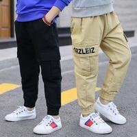 2019 NEW Teenage Boy Clothing Kids Cargo Trousers Kids Pants Boys Trousers Camo Pants Boys Military Pants Big Size 5 7 9 12 13
