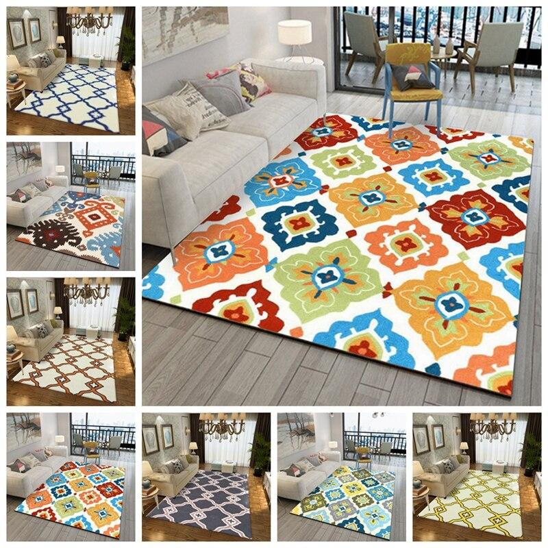 Tapis de Style moderne pour salon chambre canapé Table basse étude chevet tapis Europe géométrique imprimé petits tapis de ménage