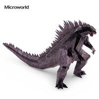 Microworld 3D Metal Puzzle Behemoth Godzilla Monsters Assemble Model Kits Z013 DIY 3D Laser Cut Jigsaw Toys For Audit