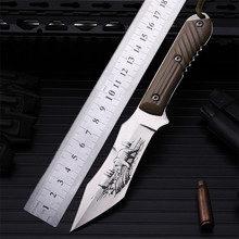 Outdoor self-defense field high hardness saber wilderness survival of folding knife bears fruit knife small straight tools stenzhorn new outdoor self defense field high hardness small straight knife wilderness survival of folding fruit quality goods