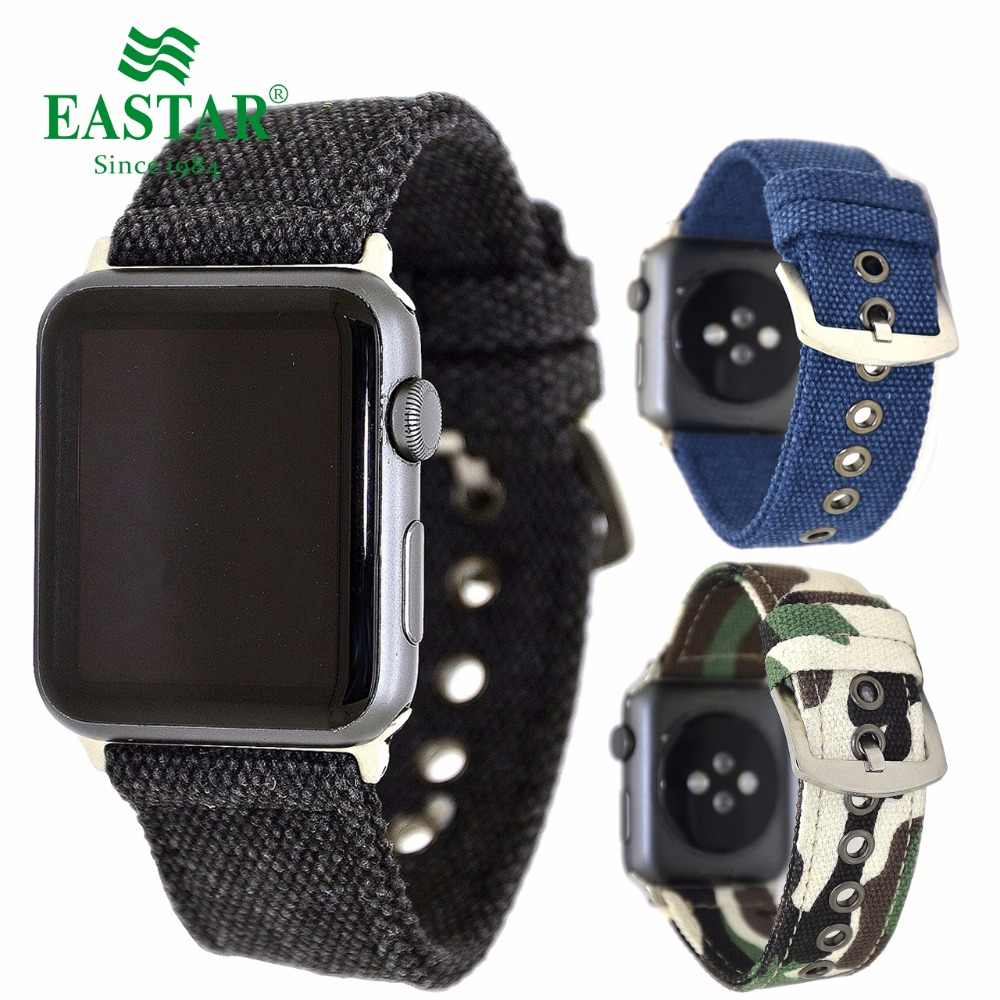 Eastar Camouflage Nylon Band Strap Watchband for Apple Watch Band Series 3/2/1 Sport Bracelet 42 mm 38 mm For iwatch Band