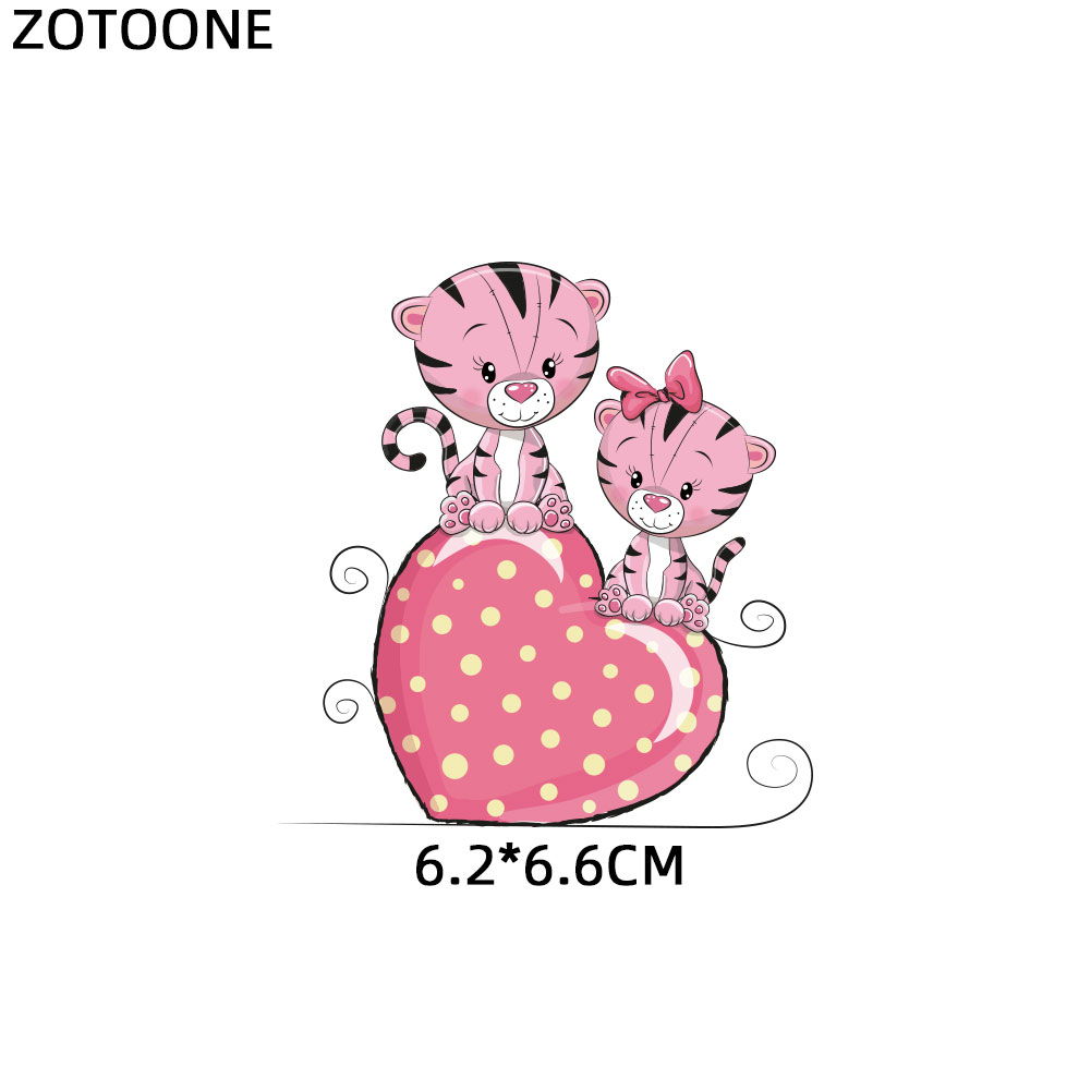 HTB1c6O9d2WG3KVjSZFgq6zTspXak ZOTOONE Cute Cartoon Animal Patches Heat Transfer Iron on Patch for T-Shirt Children Gift DIY Clothes Stickers Heat Transfer G