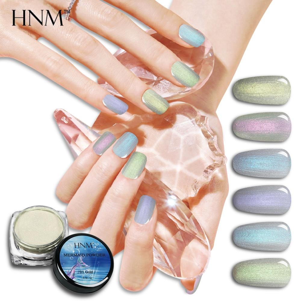 HNM 1g Box Glitter Mermaid Nagel Pulver mit Gel Lack acryl Pulver ...