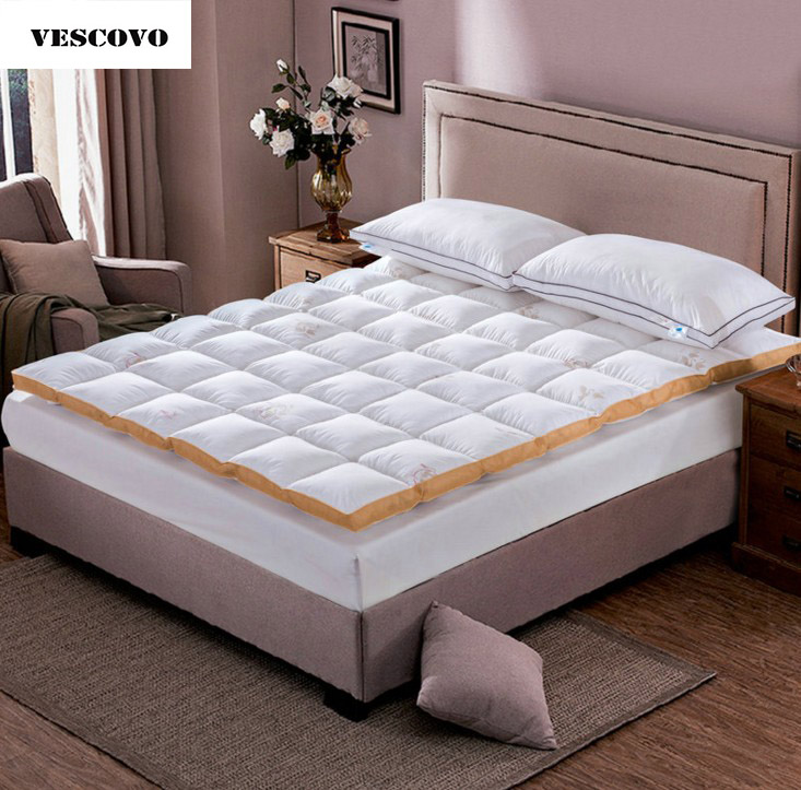 cotton shell goose down mattress twin bed queen bed skin care white matras topperchina - Cheap Twin Bed Frame