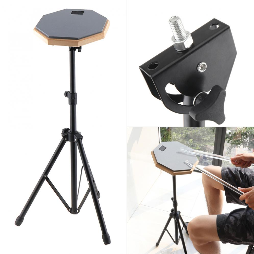 8 Inch Rubber Wooden Dumb Drum Beginner Practice Training Drum Pad With Stand / Stick Optional For Percussion Instruments Parts