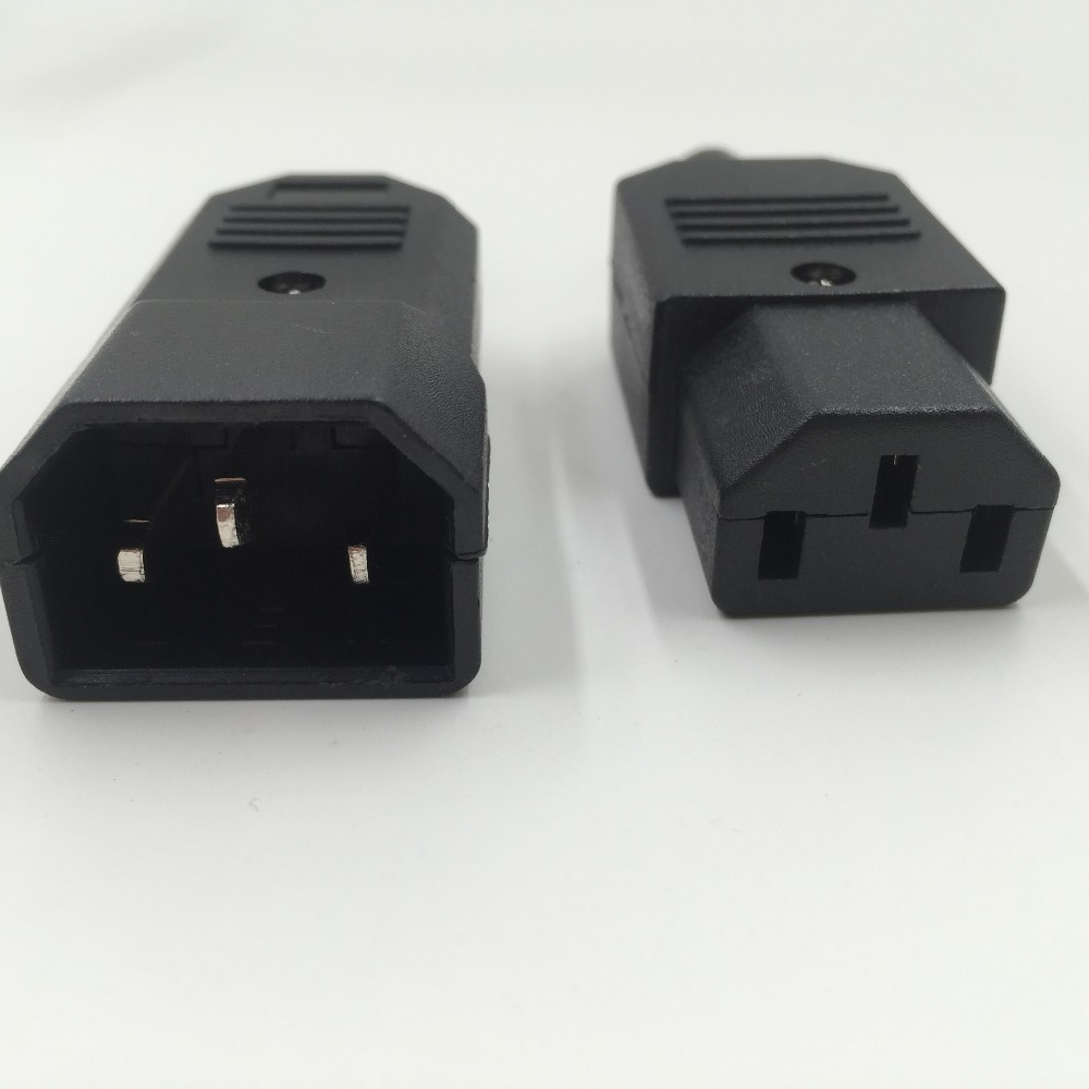 IEC 320 C14 Male Plug to C13 Female Socket Power Connector AC 250V 10A кабель сетевой apc power cord kit 6 ps locking iec 320 c13 to iec 320 c14 10a 208 230v 1 2 m ap8704s ww ap8704s ww