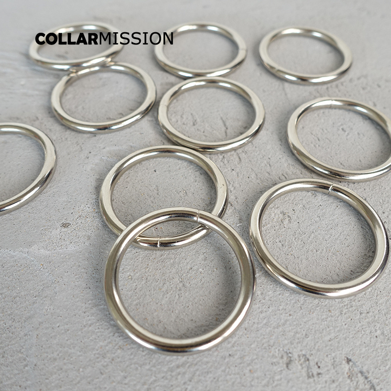100pcs/lot Metal O Rings For Pet Puppy Collar 30mm Webbing Strap Leather Bag Sewing Parts Diy Accessory O-shaped Buckle YH30Y