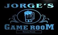 X0173 Tm Jorge S Game Room Beer Mug Bar Custom Personalized Name Neon Sign Wholesale Dropshipping