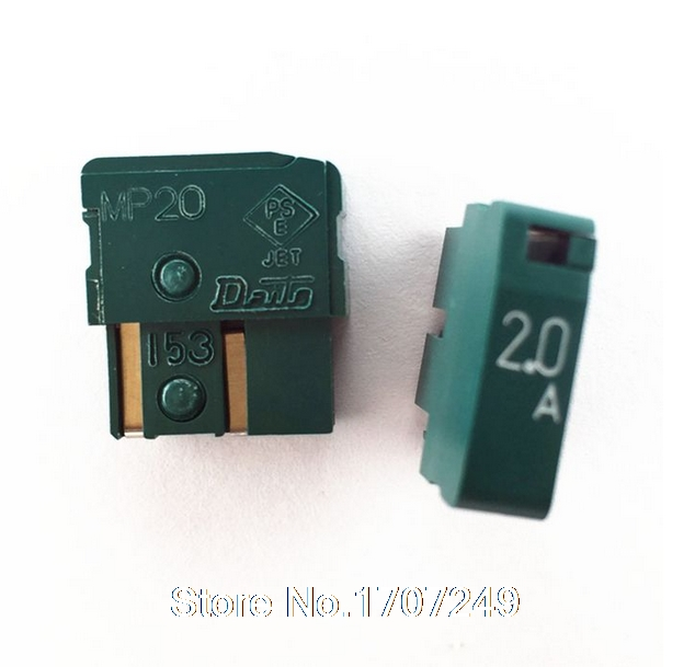 10pcs DAITO Alarm Fuse MP20 2A 125V Fanuc CNC
