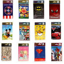 22 Styles 2016 Fashion Cartoon Superman Mickey Passport Holder PVC Leather Travel Passport Cover Case Card ID Holders 14*9.6cm