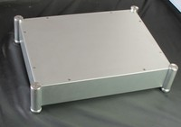 DIY box 4308T silver Full Aluminum Enclosure / mini AMP case/power amplifier box/ chassis