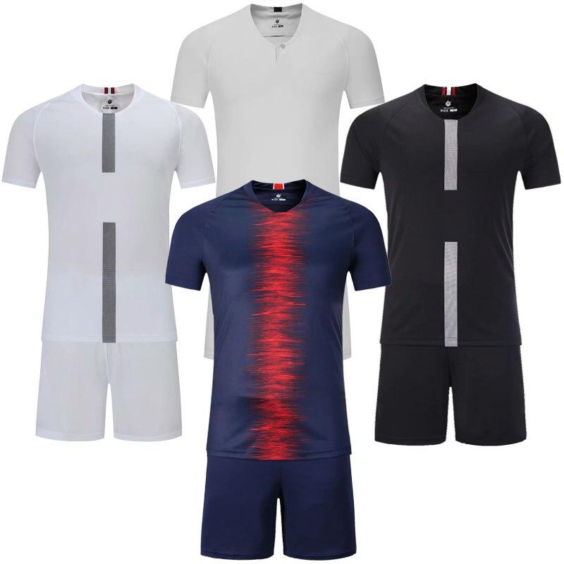 88c1b85dd Männer blank kurzarm fußball jersey männer fußball trikots erwachsenen klar  fußball sets Survêtement fertigen jede logos sport kits ~ Top Deal July 2019