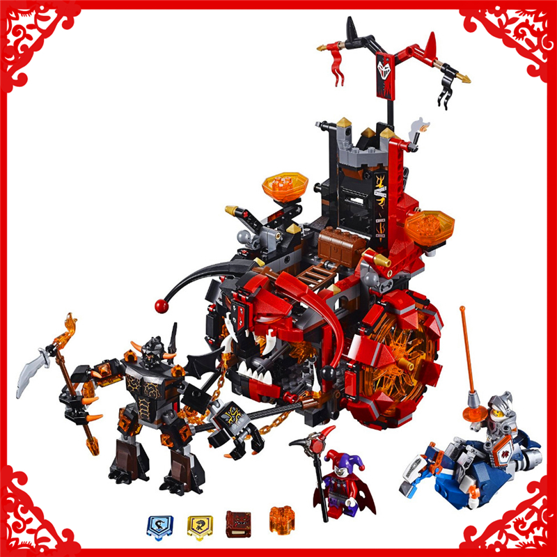 LEPIN 14005 Nexo Knights Axl Jestro's Evil Mobile 675Pcs Building Block Educational  Toys For Children Compatible Legoe decool 3114 city creator 3in1 vehicle transporter building block 264pcs diy educational toys for children compatible legoe