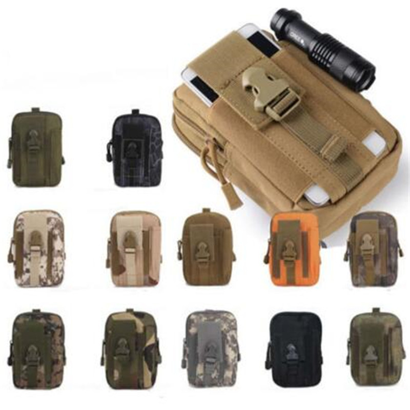 Men Molle Pouch Belt Waist Pack Bag Small Pocket Military Waist Packs Pouch Travel Bags Soft back waterproof oxford bag airsoftpeak military tactical waist hunting bags 1000d outdoor multifunctional edc molle bag durable belt pouch magazine pocket