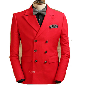 Easy and comfortable men leisure suit, cultivate one's morality double-breasted suit red tide male wedding custom tailored