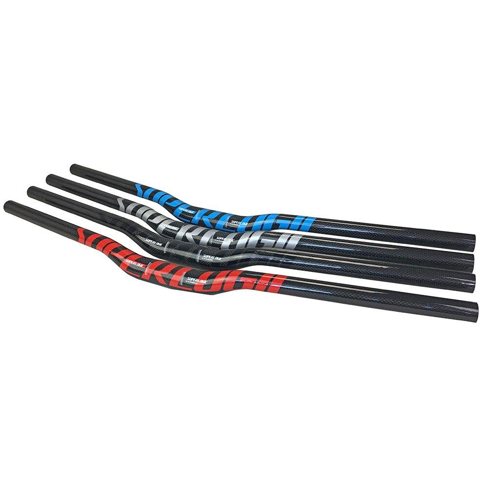 superlogic 3k Carbon MTB/Mountain Bicycle bar Bend Riser Handlebar 31.8*600/620/640/660/680/700/720/740/760mm
