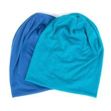 Spring Women Men Unisex Solid Color Slouchy Beanie For Women Fashion Man Cotton Caps Turban Skullies Beanies Female Hats Elastic